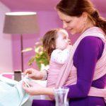 Jak vybrat šátek na nošení dětí